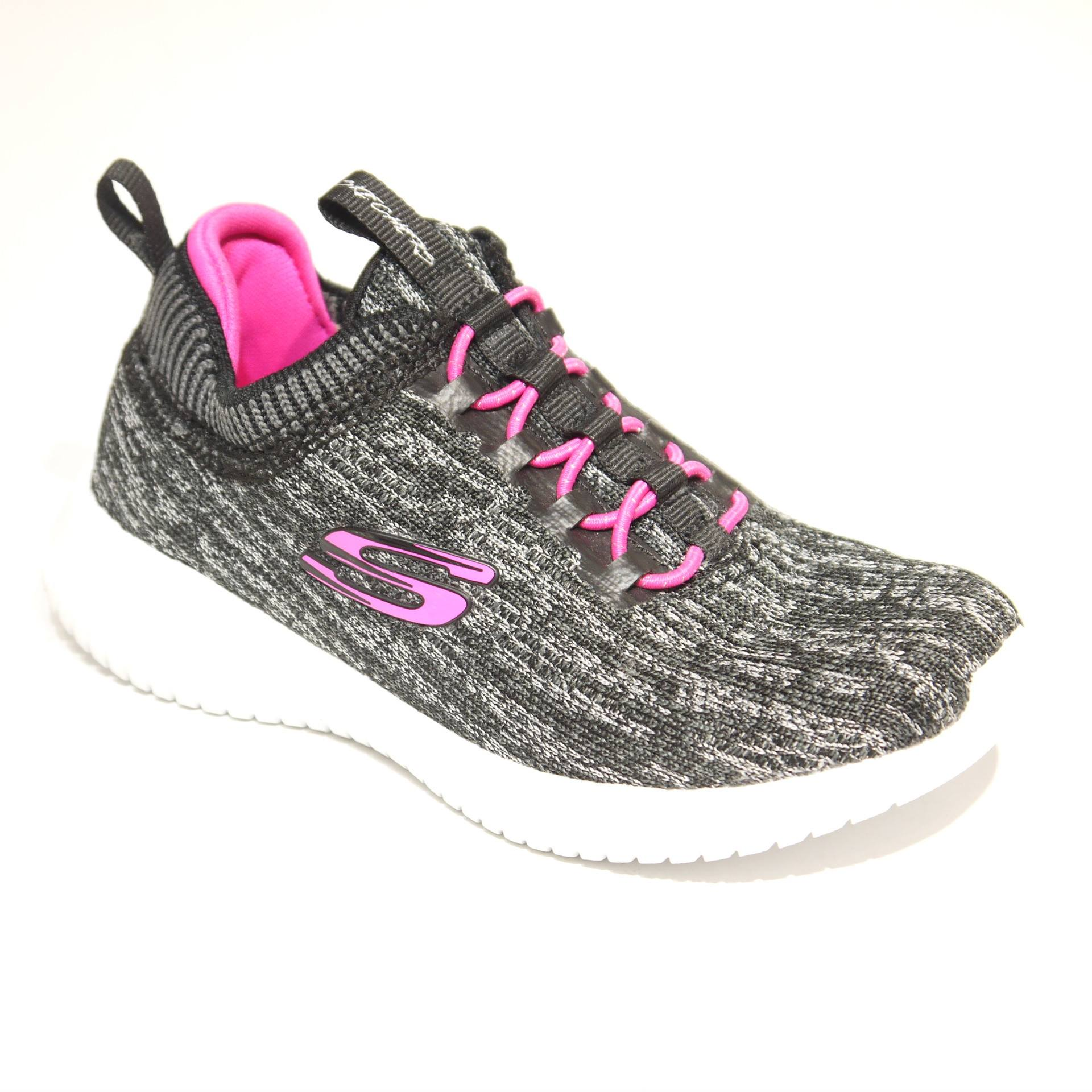 ba3e63a4d3cca Skechers Ultra Flex Bright Horizon Black/Hot Pink | Brassington Bros